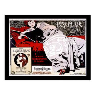 "Postal Moser Kolo 1900 - Lesen Sie - ""me leyó """