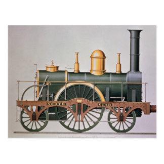 """Postal Motor de vapor de la """"estrella del norte"""" de"""