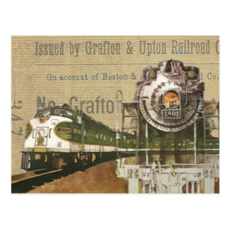 Postal Motor de vapor locomotor del tren del vintage