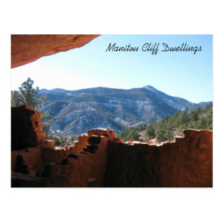 Postal Mountain View de las viviendas de acantilado