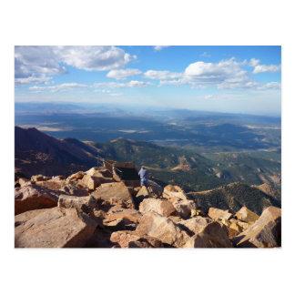 Postal Mountain View en la cima del pico de los lucios