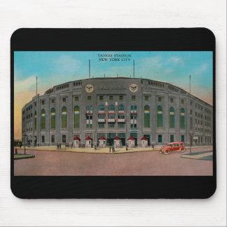 Postal Mousepad del vintage del Yankee Stadium Tapetes De Raton