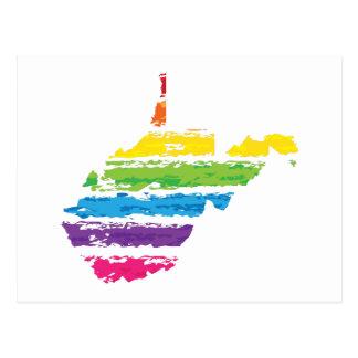 Postal movimientos del color de Virginia Occidental