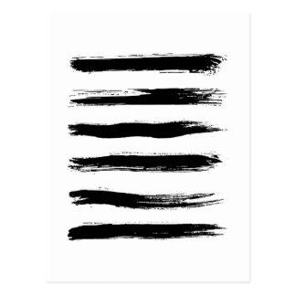 Postal Movimientos negros y blancos minimalistas del