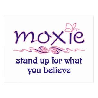 Postal Moxie - levántese y crea