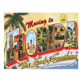 Postal Mudanza al cambio del vintage de la Florida de