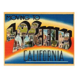Postal Mudanza al cambio del vintage de Los Ángeles de
