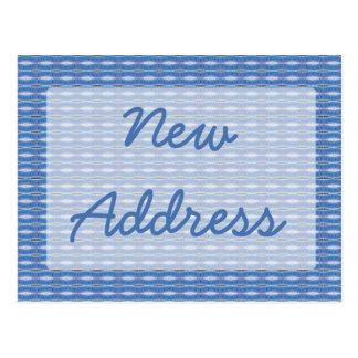 Postal Mudanza azul del modelo