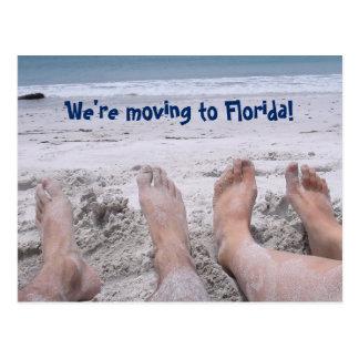 Postal Mudanza divertida al cambio de la Florida de
