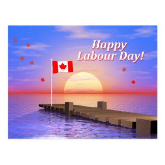 Postal Muelle feliz de Canadá del día de trabajo