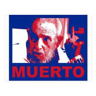 Postal Muerto de Castro (cubana de colores de bandera)