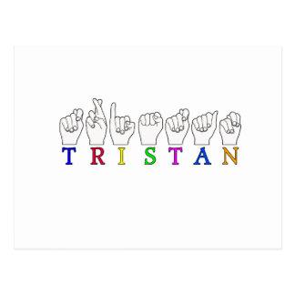 POSTAL MUESTRA CONOCIDA DE TRISTAN FINGERSPELLED ASL