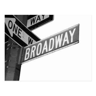 Postal Muestra de Broadway