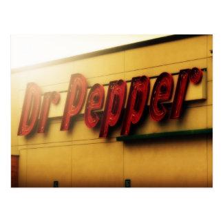 Postal Muestra de Dr. Pepper