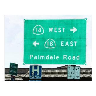 Postal Muestra de la carretera - CA-18 Palmdale Rd