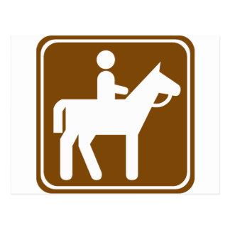 Postal Muestra de la carretera de la equitación