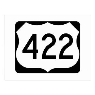 Postal Muestra de la ruta 422 de los E.E.U.U.