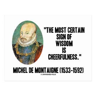 Postal Muestra de Michel de Montaigne del Cheerfulness de