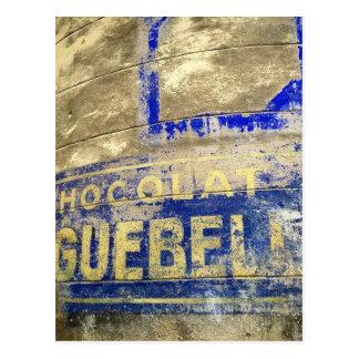 Postal Muestra del chocolate