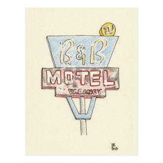 Postal Muestra del motel