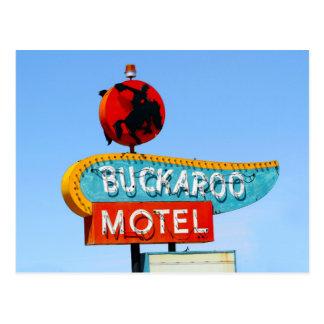 Postal Muestra del motel del Buckaroo, Tucumcari, N.M.