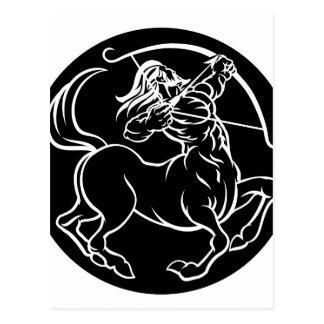 Postal Muestra del zodiaco del Centaur del sagitario del