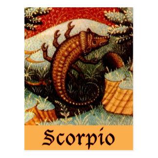 Postal Muestra del zodiaco del escorpión