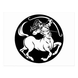 Postal Muestra del zodiaco del sagitario del Centaur