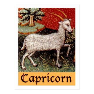 Postal Muestra exótica del zodiaco del Capricornio