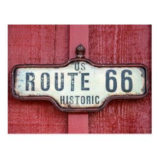 Postal Muestra histórica de la ruta 66 de los E.E.U.U. en