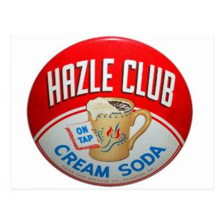 Postal Muestra retra de la soda de club del club de Hazle