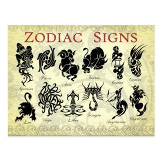 Postal Muestras (astrológicas) del zodiaco