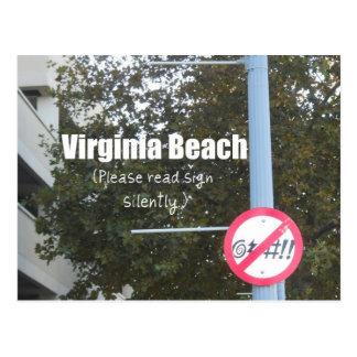 Postal Muestras de la blasfemia de Virginia Beach