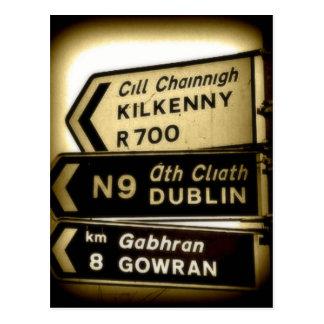 Postal Muestras del borde de la carretera de Irlanda