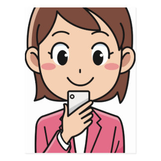 Postal Mujer con Smartphone