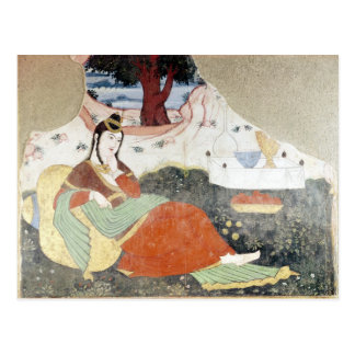 Postal Mujer en el jardín de Shah Abbas I