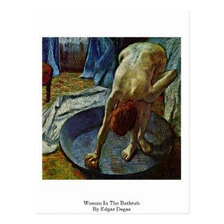 Postal Mujer en la bañera de Edgar Degas