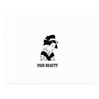 Postal mujer justa de la belleza