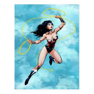 Postal Mujer Maravilla y lazo de la verdad