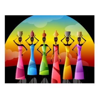 Postal Mujeres africanas tradicionales