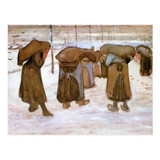 Postal Mujeres carbonosas de Vincent van Gogh
