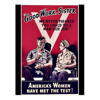 Postal Mujeres de Wwii