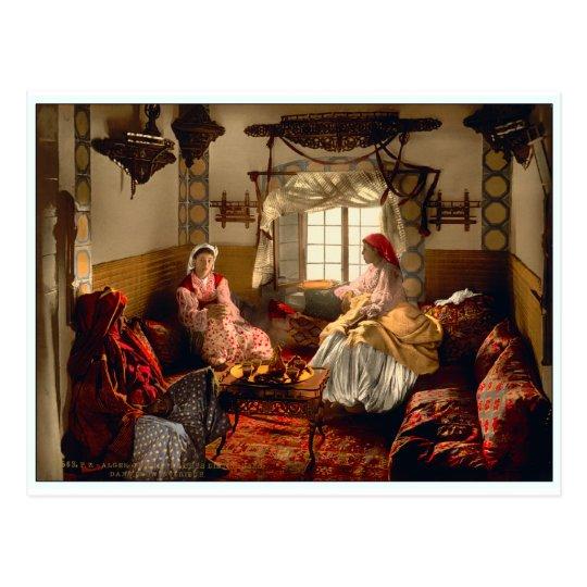 Postal Mujeres distinguidas del Moorish en Argel, Argelia