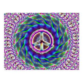 Postal multi del signo de la paz