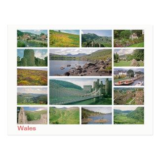 Postal Multi-imagen de País de Gales