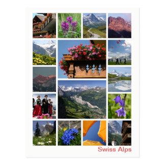 Postal Multi-imagen suiza 2 de las montañas