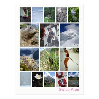 Postal Multi-imagen suiza 3 de las montañas