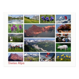 Postal Multi-imagen suiza de las montañas