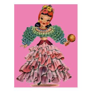 Postal Muñeca latina