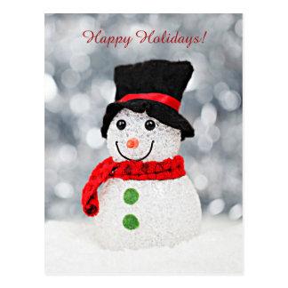 Postal Muñeco de nieve del país de las maravillas del